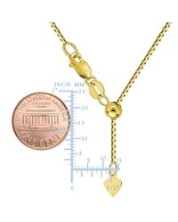 JewelryAffairs - 14k Yellow Gold Adjustable Box Chain Necklace, 0.85mm, 22 - Lyst