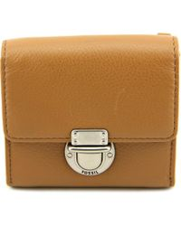 Fossil | Multicolor Riley Small Flap Leather Wallet | Lyst