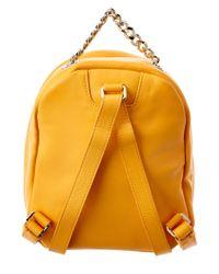 Furla - Orange Spy Bag Mini Leather Backpack - Lyst