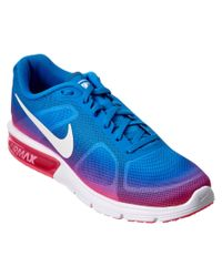 Nike | Blue Women's Air Max Sequent Running Shoe | Lyst