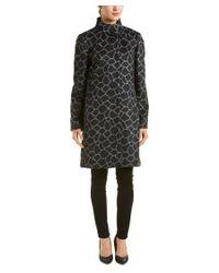 Cinzia Rocca   Black Wool & Alpaca-blend Holiday Coat   Lyst