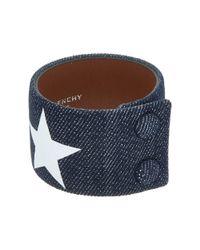 Givenchy - Blue Denim Bracelet - Lyst