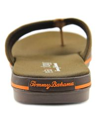 Tommy Bahama - Brown Jacob St. Open Toe Leather Flip Flop Sandal for Men - Lyst
