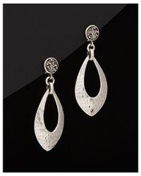 Lois Hill | Metallic Signature Silver Hammered Petal Drop Earrings | Lyst