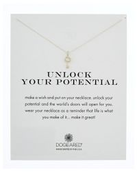 Dogeared | Metallic Silver Unlock Your Potential Necklace | Lyst