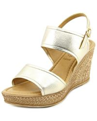 Bella Vita | Metallic Nicola Women W Open Toe Synthetic Wedge Sandal | Lyst