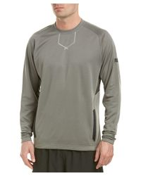New Balance - Gray Baseball Pullover for Men - Lyst