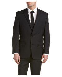MICHAEL Michael Kors   Black Wool Suit With Flat Front Pant for Men   Lyst