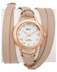 La Mer Collections | Natural Women's Genuine Leather Wrap Watch | Lyst