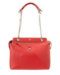 Fendi | Red Dotcom Click Quilted Leather Chain Satchel | Lyst