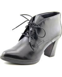 Clarks | Black Araya Turner Pointed Toe Leather Bootie | Lyst