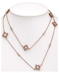 Freida Rothman | Metallic Classic 14k Rose Gold Plated Cz Crown 36in Wrap Necklace | Lyst
