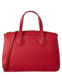 Furla   Red Giada Large Leather Satchel   Lyst