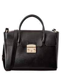 Furla | Black Metropolis Medium Leather Satchel | Lyst