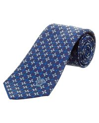 Versace | Blue Silk Tie for Men | Lyst