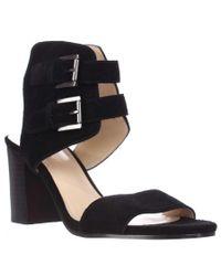 Nine West   Galiceno Ankle Cuff Sandals - Black   Lyst