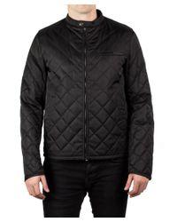 Prada | Men's Quilted Nylon Viscose Windbreaker Jacket Navy Black for Men | Lyst
