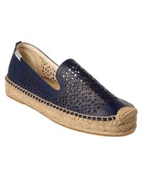 Soludos - Blue Leather Smoking Slipper - Lyst