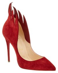 Christian Louboutin - Red Victorina 100 Suede Flame Pump - Lyst