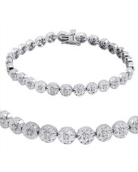 Amanda Rose Collection | Metallic Ags Certified 1/2ct Diamond Tennis Bracelet In Sterling Silver 7 Inch | Lyst