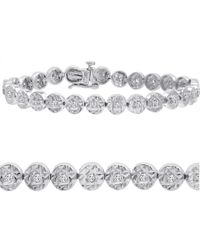 Amanda Rose Collection - Metallic Ags Certified 1/2ct Diamond Tennis Bracelet In Sterling Silver 7 Inch - Lyst