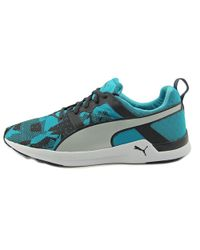 PUMA - Pulse Xt Graphic Men Round Toe Canvas Blue Running Shoe for Men - Lyst