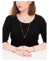 Les Nereides - Multicolor Ladybug Red Ladybug And Black Pearl Pendant Earrings - Lyst