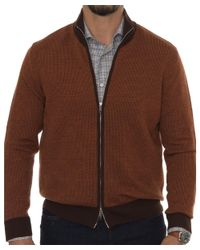 Robert Talbott - Brown Downy Ii Merino Sweater for Men - Lyst