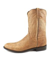 Lucchese - M1017.c2 Men 2e Round Toe Leather Brown Western Boot for Men - Lyst
