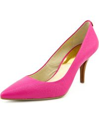 MICHAEL Michael Kors - Pink Saffiano Mid Flex Pump Leather Heels - Lyst