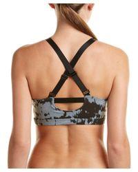 Beyond Yoga - Gray Crossback Sport Bra - Lyst