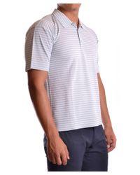 Dirk Bikkembergs - Gray Men's Mcbi097018o Grey Silk Polo Shirt for Men - Lyst