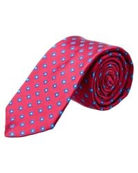 Ted Baker - Pink Open Grounded Squares Silk Tie for Men - Lyst