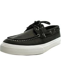Sperry Top-Sider - Black Sperry Top Sider Bermuda Moc Toe Leather Boat Shoe for Men - Lyst