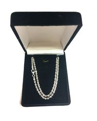JewelryAffairs - 14k White Gold Solid Diamond Cut Royal Rope Chain Necklace, 2.5mm, 30 Inch - Lyst