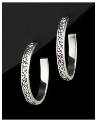 Lois Hill - Metallic Silver Hoops - Lyst