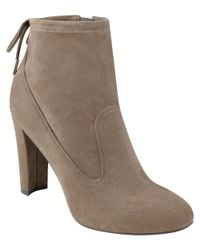 Marc Fisher | Natural Justice Suede Booties | Lyst