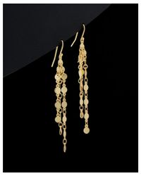 Argento Vivo - Metallic 18k Over Silver Drop Earrings - Lyst