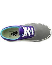 Vans | Era Women Round Toe Canvas Gray Skate Shoe | Lyst
