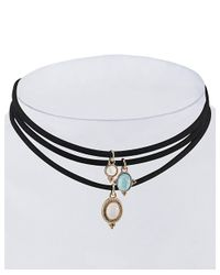 Gottex - Black 18k Plated Set Of 3 Layered Choker Necklaces - Lyst