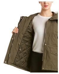 T Tahari - Green Hooded Jacket - Lyst