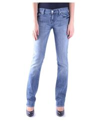 7 For All Mankind - Women's Mcbi004023o Blue Cotton Jeans - Lyst