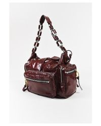 """Chloé - 1 Burgundy Red Patent Leather Zip Pocket Chain Strap """"betty"""" Shoulder Bag - Lyst"""
