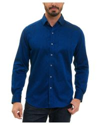 Robert Graham - Blue Christopher Tailored Fit Woven Shirt for Men - Lyst