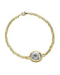 Eklexic | Metallic Crystal Pendant Bracelet (small Crystal Pendant) | Lyst