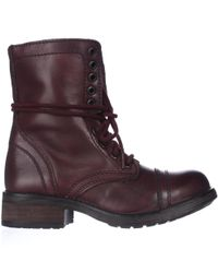 Steve Madden - Red Tropa2 Combat Boots - Wine for Men - Lyst