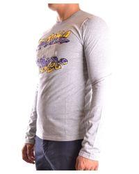 Frankie Morello - Gray Men's Mcbi125018o Grey Cotton T-shirt for Men - Lyst