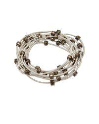 Sugar NY - Metallic Sweet Tart Piano Wire Bracelet - Lyst