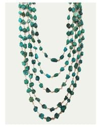 Blue Candy Jewelry - Green African Turquoise Multi Strand Necklace - Lyst