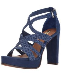 Ralph Lauren - Blue Lauren By Womens Aleena Leather Open Toe Special Occasion Platfo... - Lyst